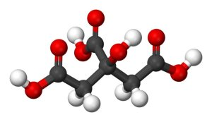Graphical representation of the citric acid molecule