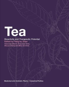 A purple book titled: Tea: Bioactivity and Therapeutic Potential