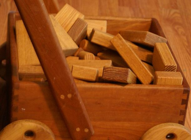 Wooden blocks a lot like the ones I played with as a child.  Photo by Belinda Hankins Miller, Licensed under CC BY 2.0.